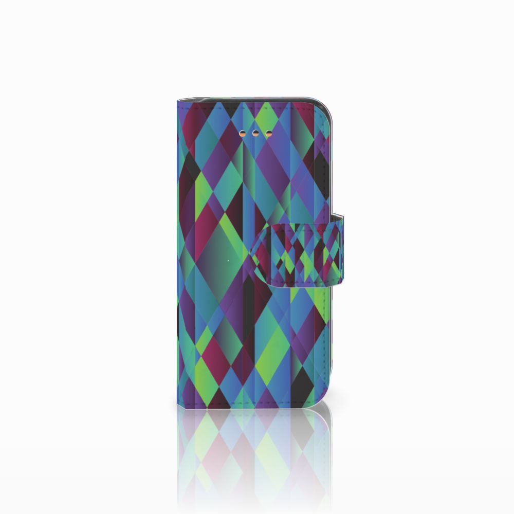 Apple iPhone 5C Bookcase Abstract Green Blue