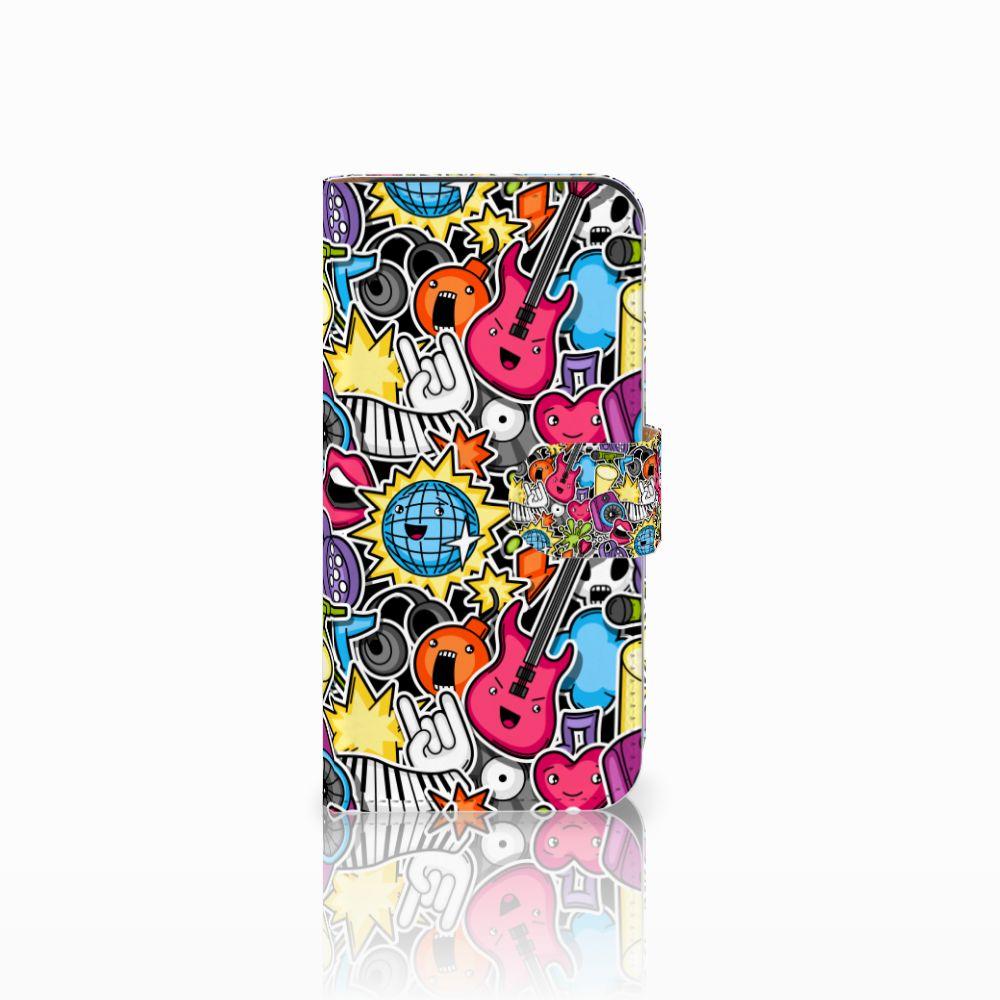 HTC One Mini 2 Uniek Boekhoesje Punk Rock