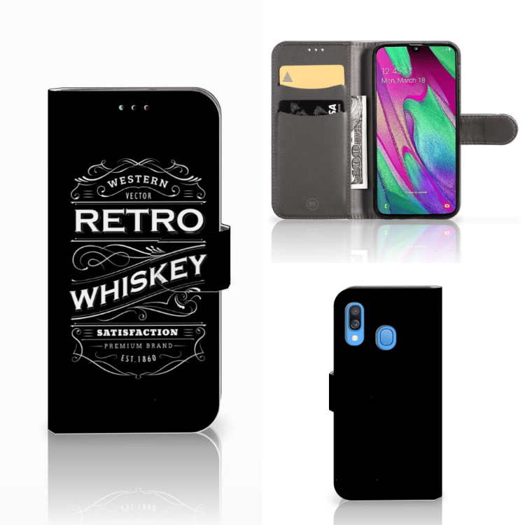 Samsung Galaxy A40 Book Cover Whiskey