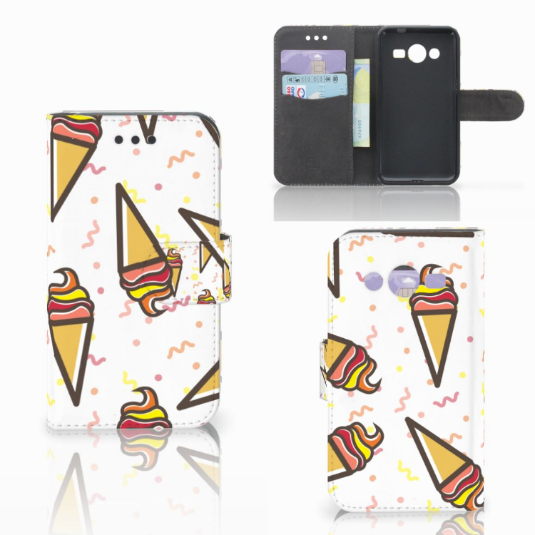 Samsung Galaxy Core 2 Book Cover Icecream