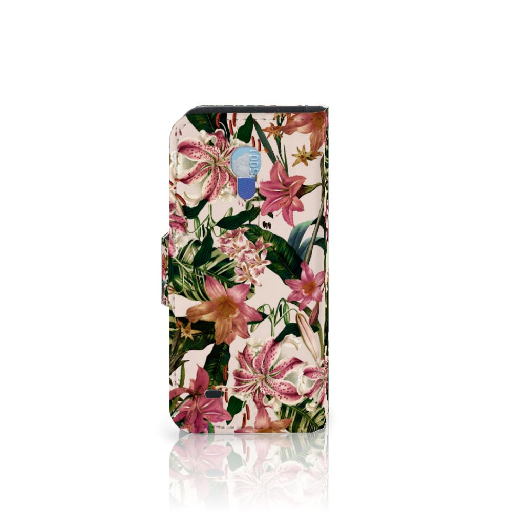 Samsung Galaxy S4 Mini i9190 Hoesje Flowers