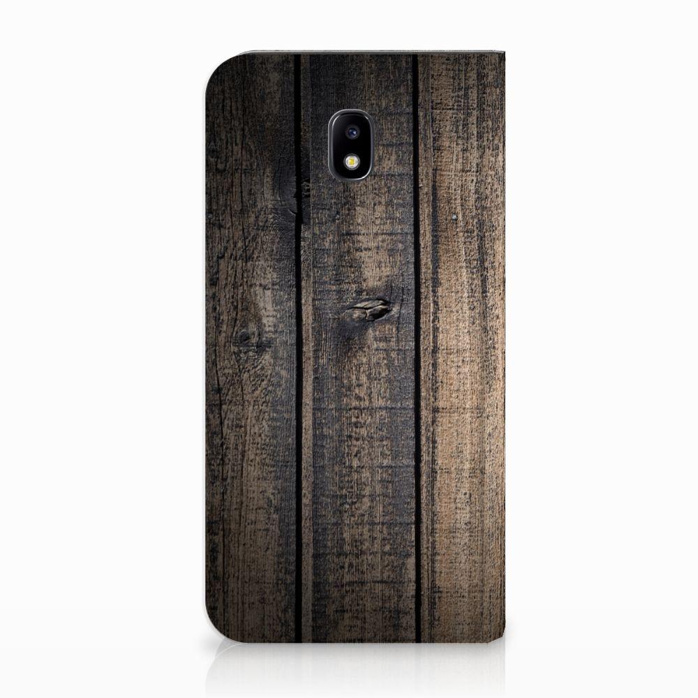 Samsung Galaxy J5 2017 Standcase Hoesje Design Steigerhout