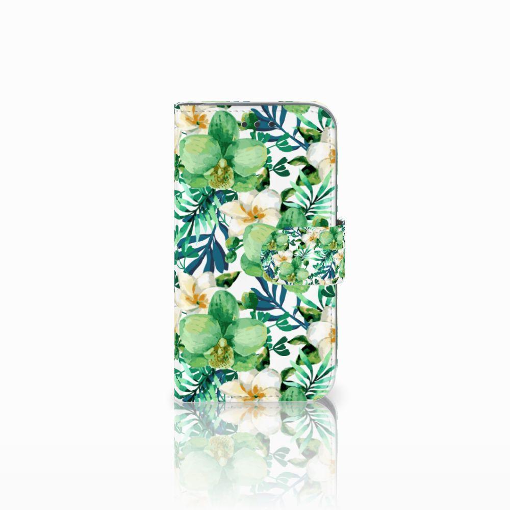 Samsung Galaxy Core Prime Uniek Boekhoesje Orchidee Groen
