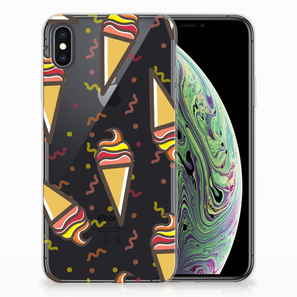 Apple iPhone Xs Max Siliconen Case Icecream