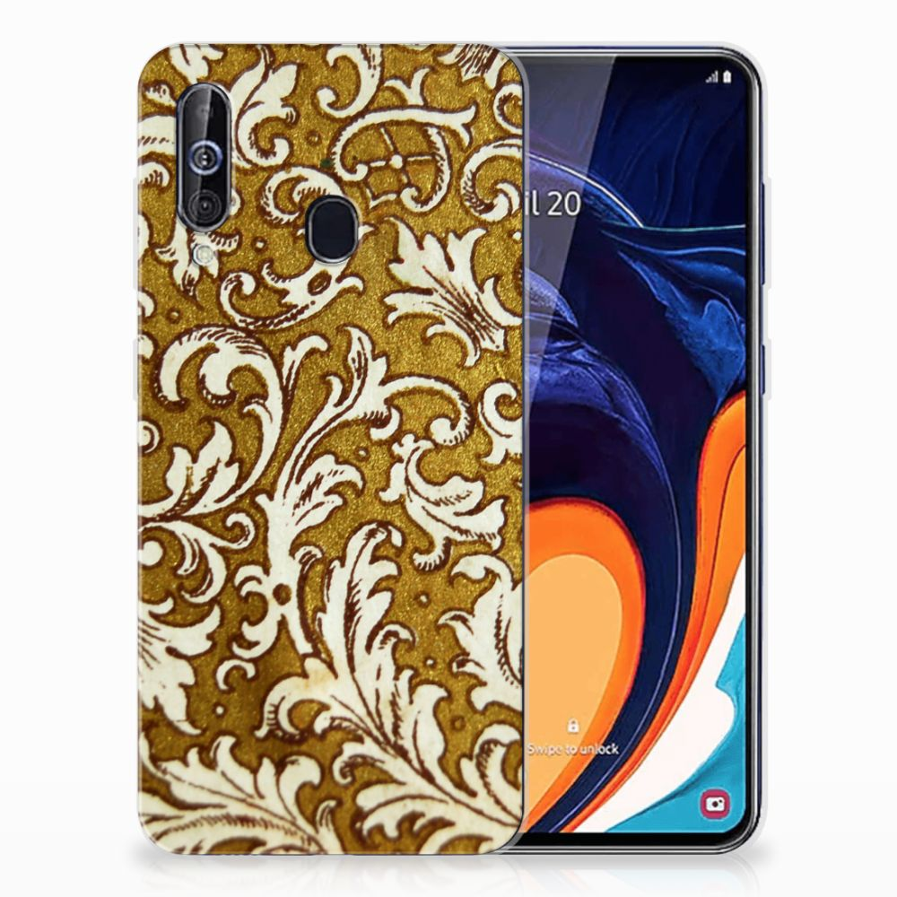 Siliconen Hoesje Samsung Galaxy A60 Barok Goud