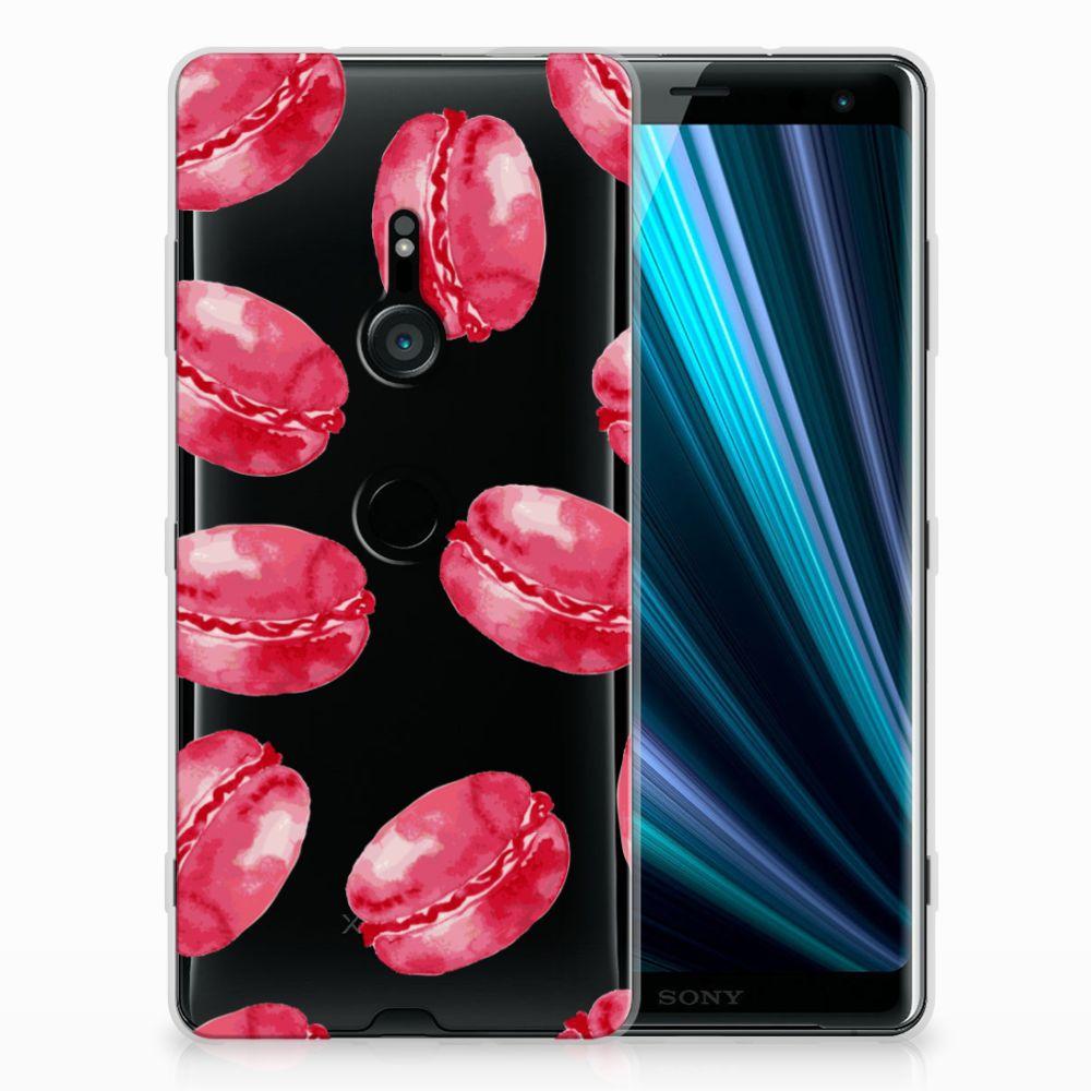 Sony Xperia XZ3 Siliconen Case Pink Macarons