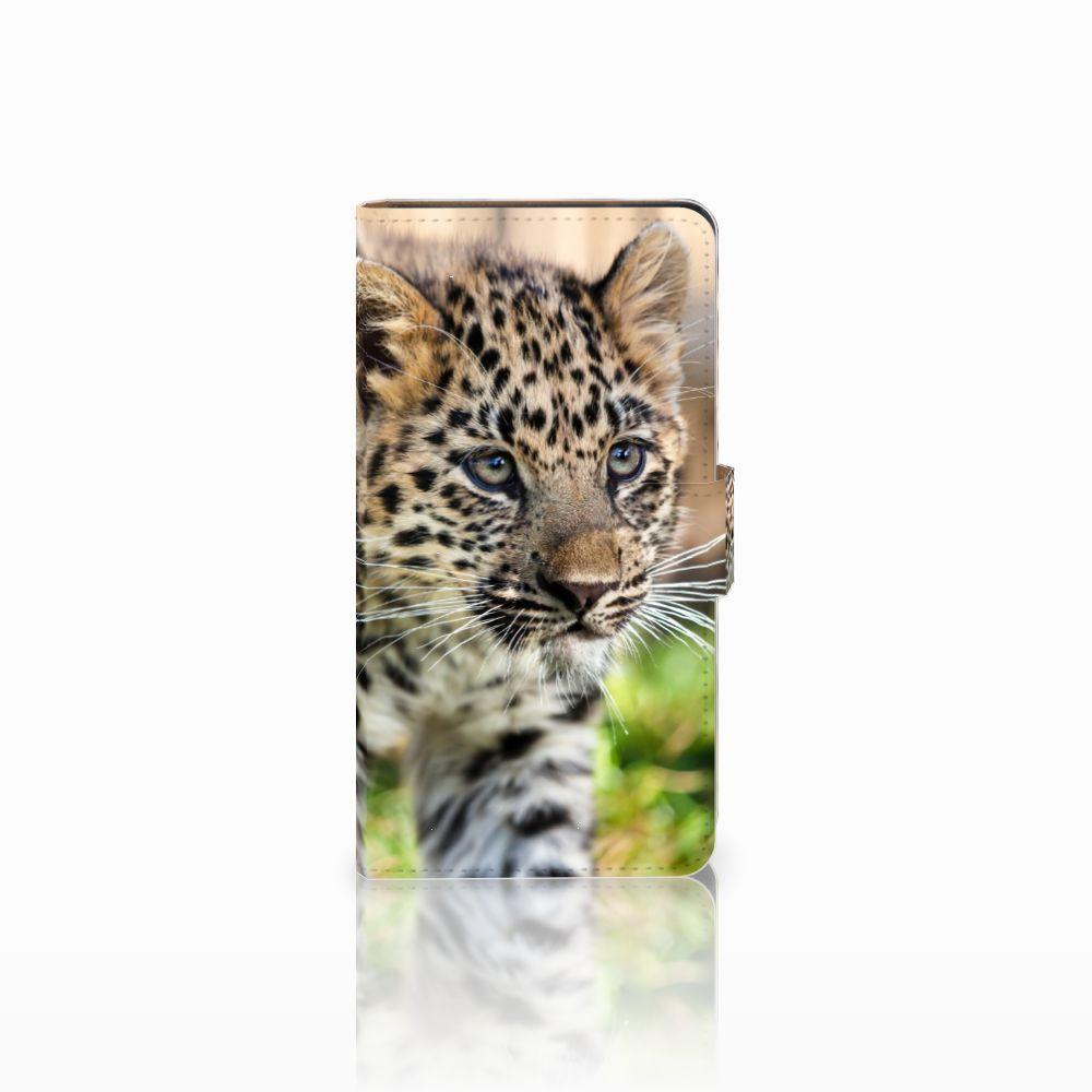 Huawei Ascend G700 Uniek Boekhoesje Baby Luipaard