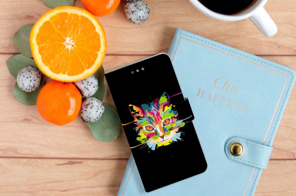 Huawei Ascend G7 Leuke Hoesje Cat Color