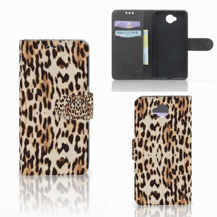 Microsoft Lumia 650 Telefoonhoesje met Pasjes Leopard