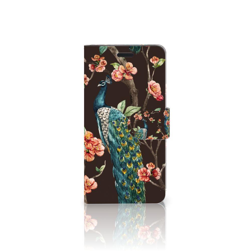 HTC 10 Boekhoesje Design Pauw met Bloemen