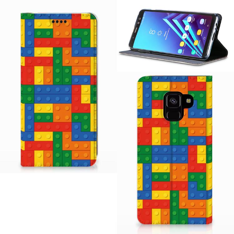 Uniek Design Hoesje Blokken Samsung Galaxy A8 (2018)