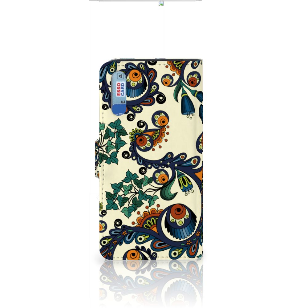 Wallet Case Huawei P20 Barok Flower