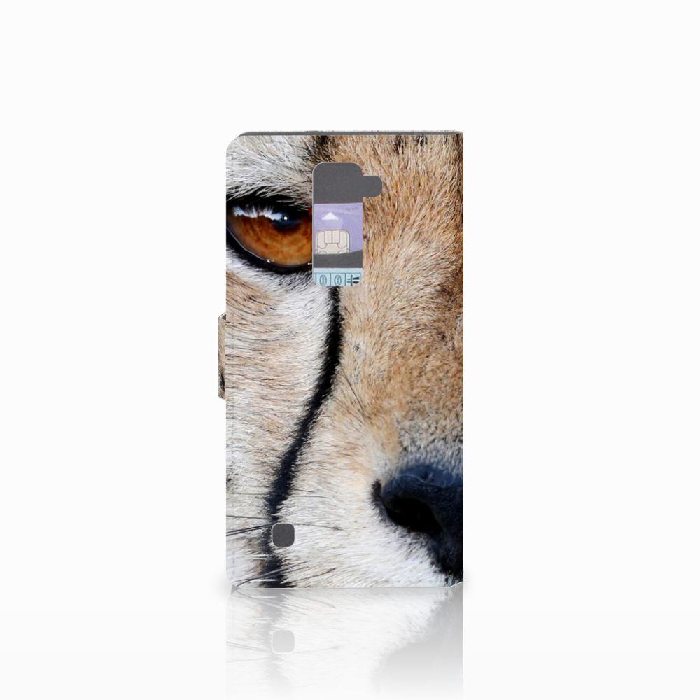 LG K10 2015 Telefoonhoesje met Pasjes Cheetah