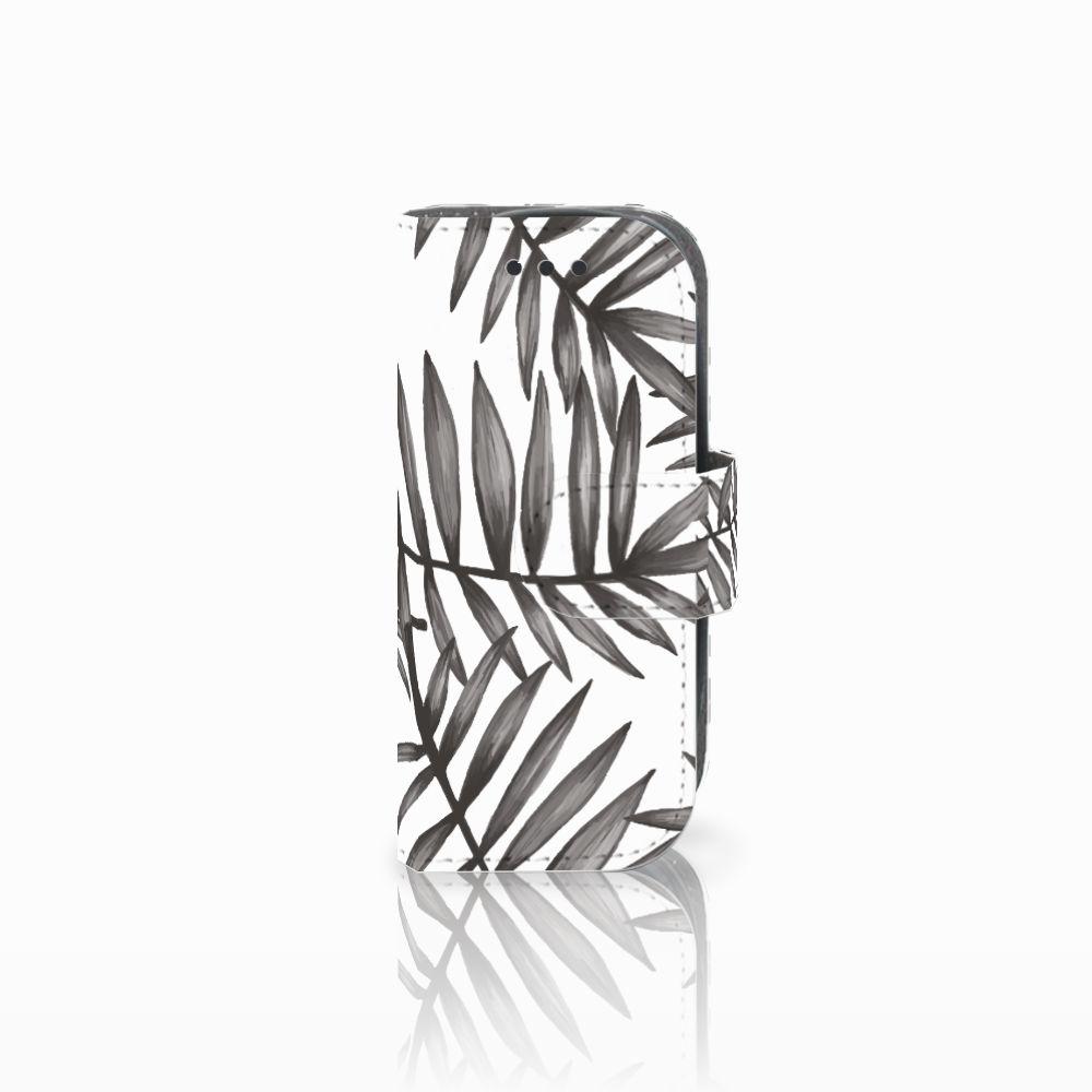 Nokia 3310 (2017) Uniek Boekhoesje Leaves Grey