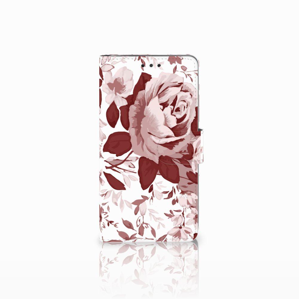LG G4 Uniek Boekhoesje Watercolor Flowers
