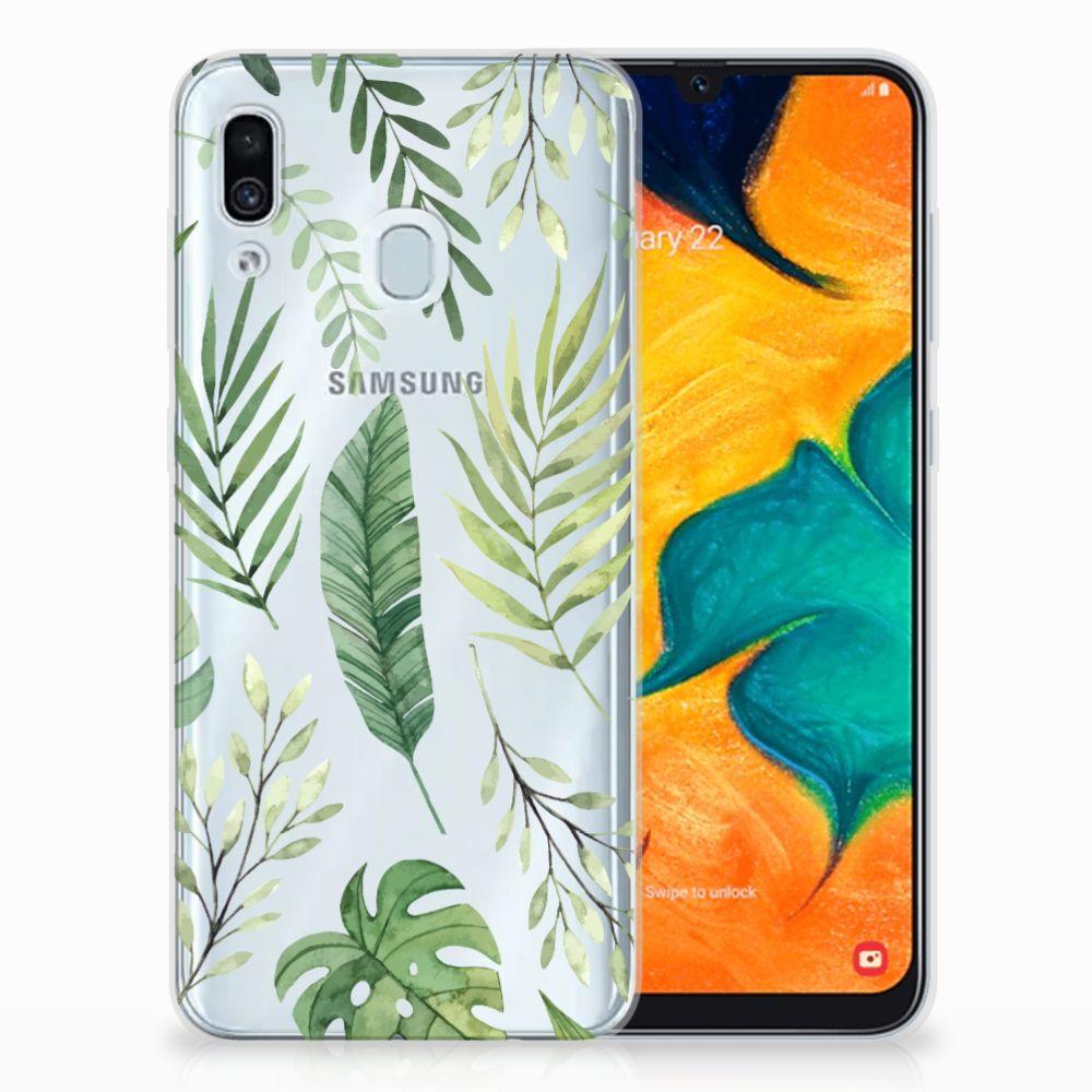 Samsung Galaxy A30 TPU Case Leaves