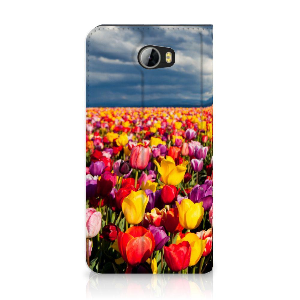 Huawei Y5 2   Y6 Compact Uniek Standcase Hoesje Tulpen