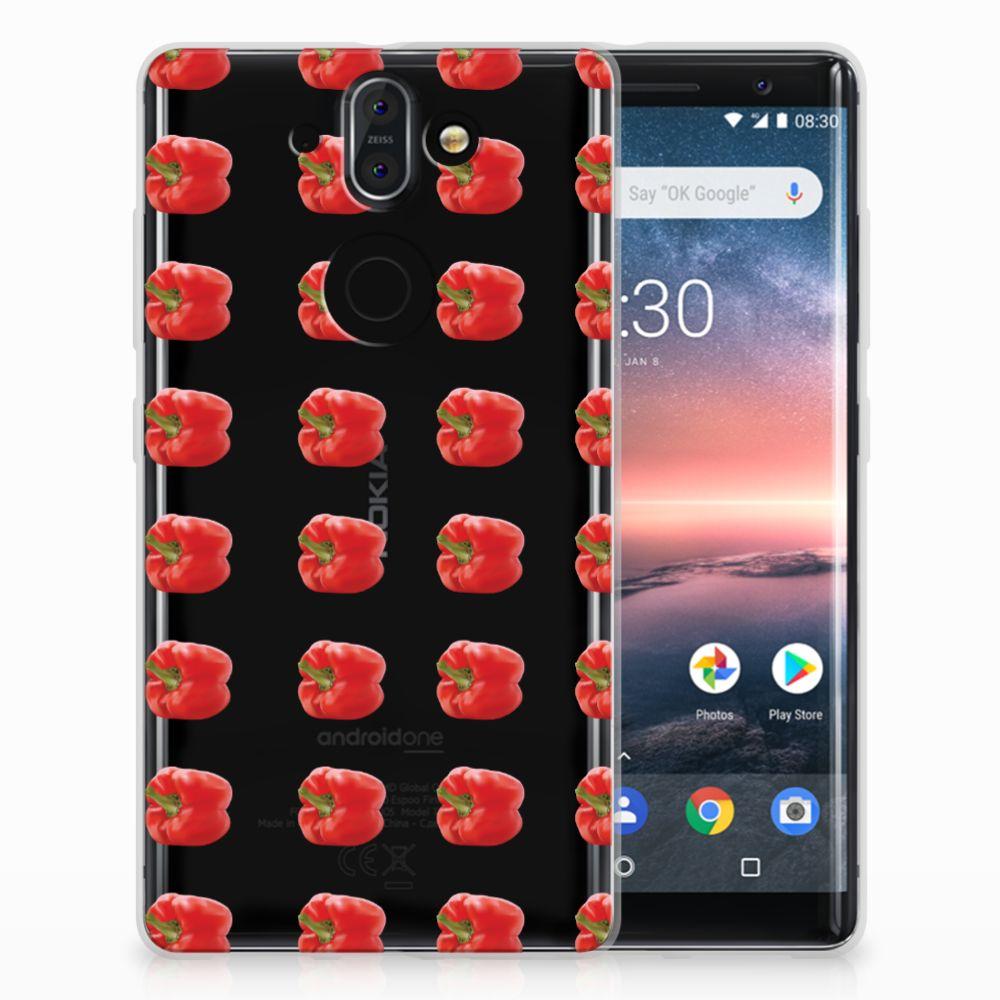 Nokia 9 | 8 Sirocco Siliconen Case Paprika Red
