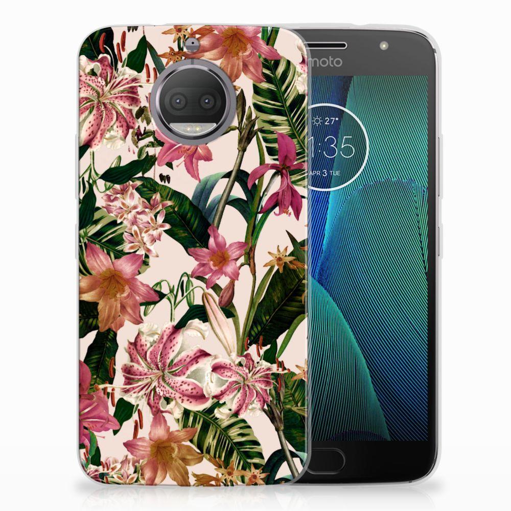 Motorola Moto G5S Uniek TPU Hoesje Flowers