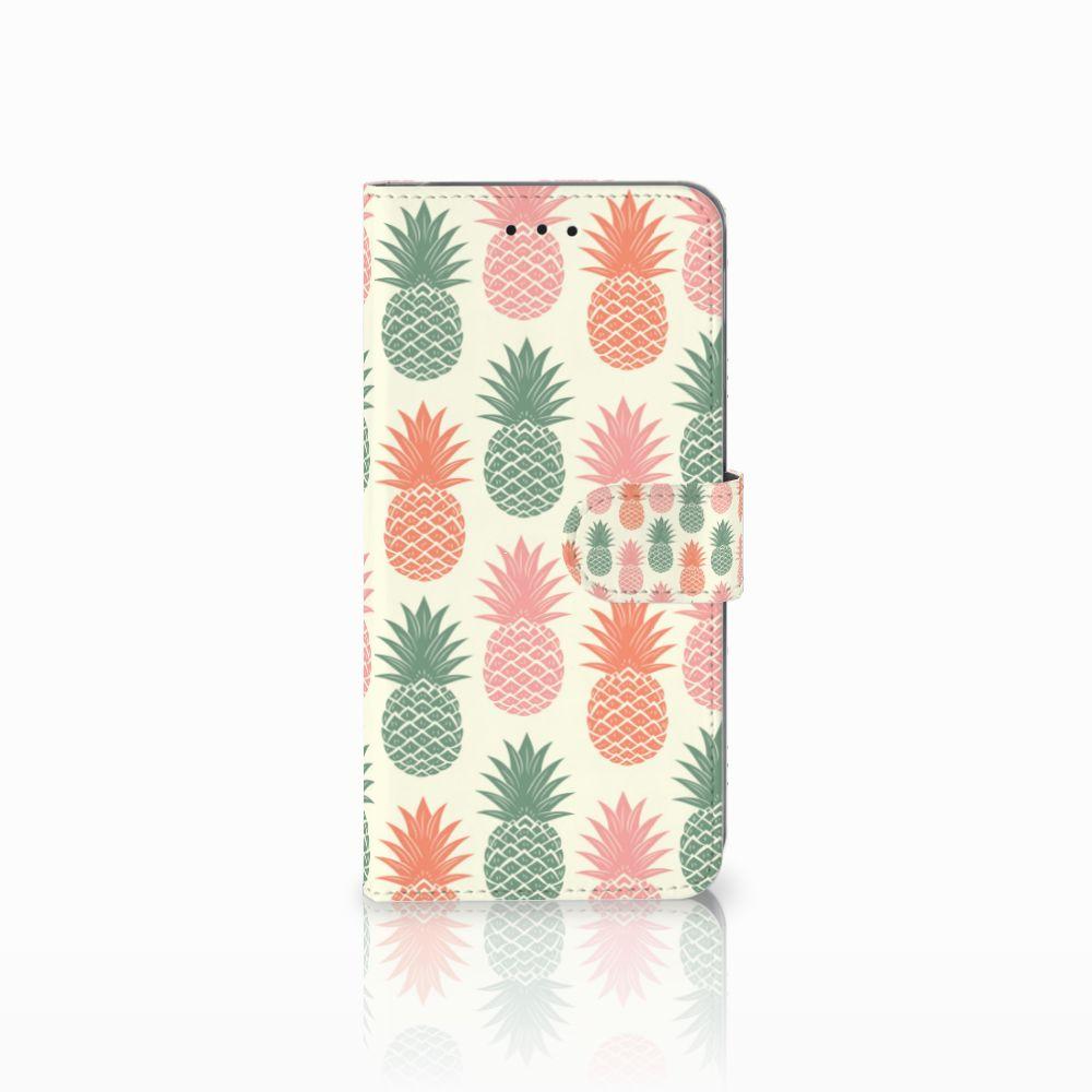 Samsung Galaxy A6 Plus 2018 Boekhoesje Design Ananas
