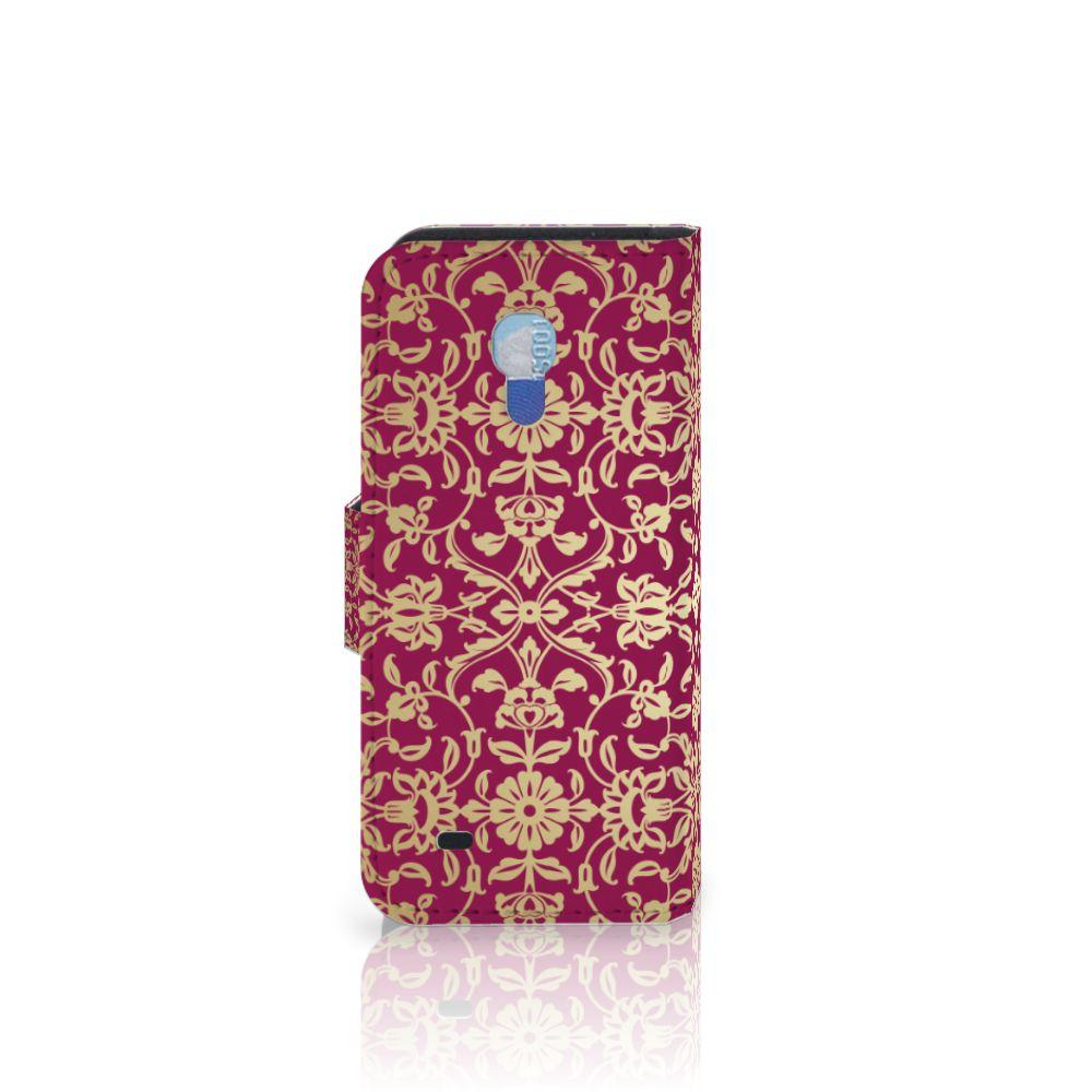 Wallet Case Samsung Galaxy S4 Mini i9190 Barok Pink