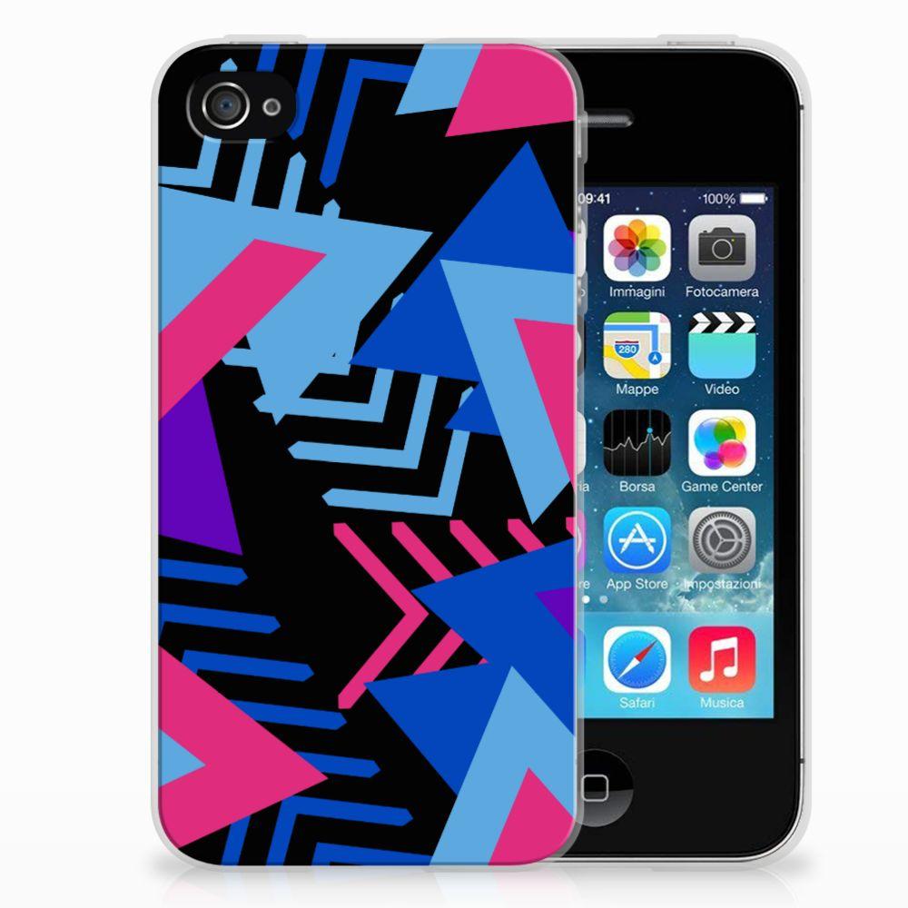 Apple iPhone 4 | 4s TPU Hoesje Funky Triangle