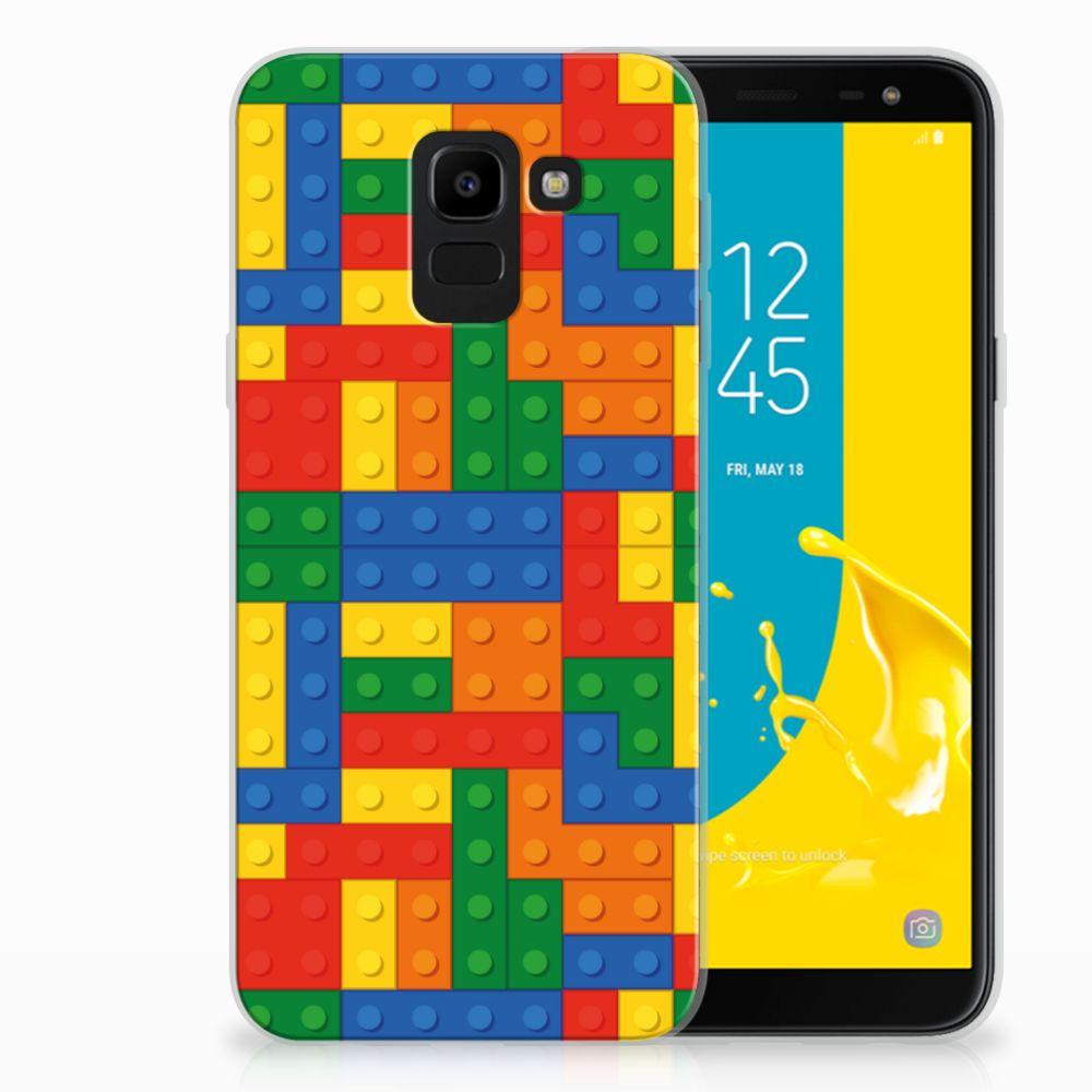 Samsung Galaxy J6 2018 TPU Hoesje Design Blokken