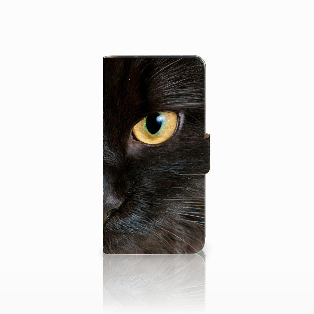Samsung Galaxy J2 2016 Uniek Boekhoesje Zwarte Kat