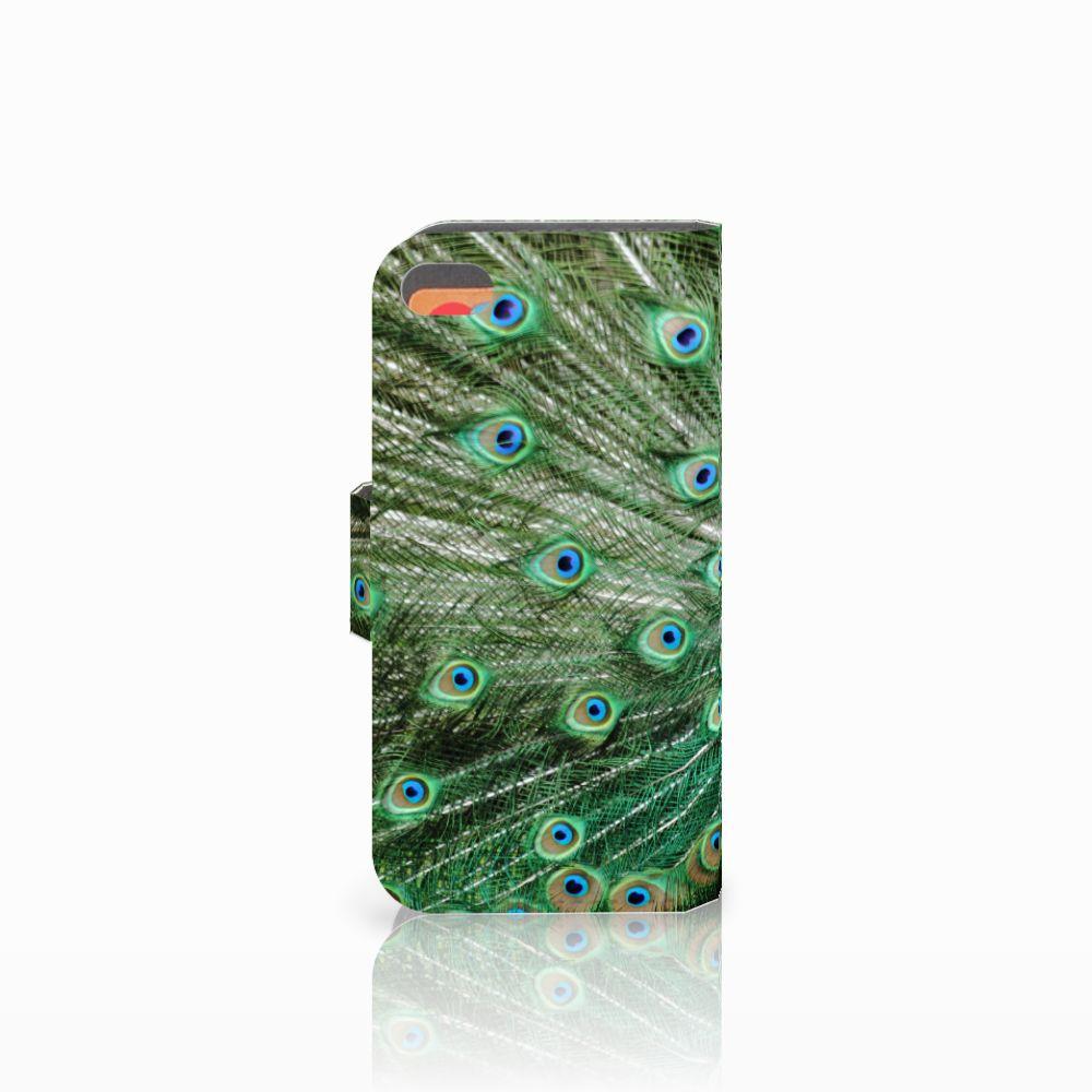 Apple iPhone 5C Telefoonhoesje met Pasjes Pauw