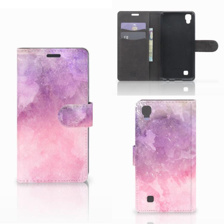 Hoesje LG X Power Pink Purple Paint