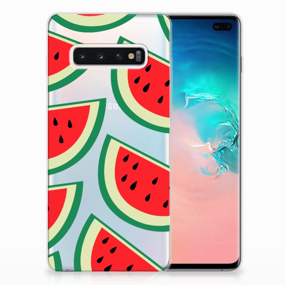 Samsung Galaxy S10 Plus Siliconen Case Watermelons