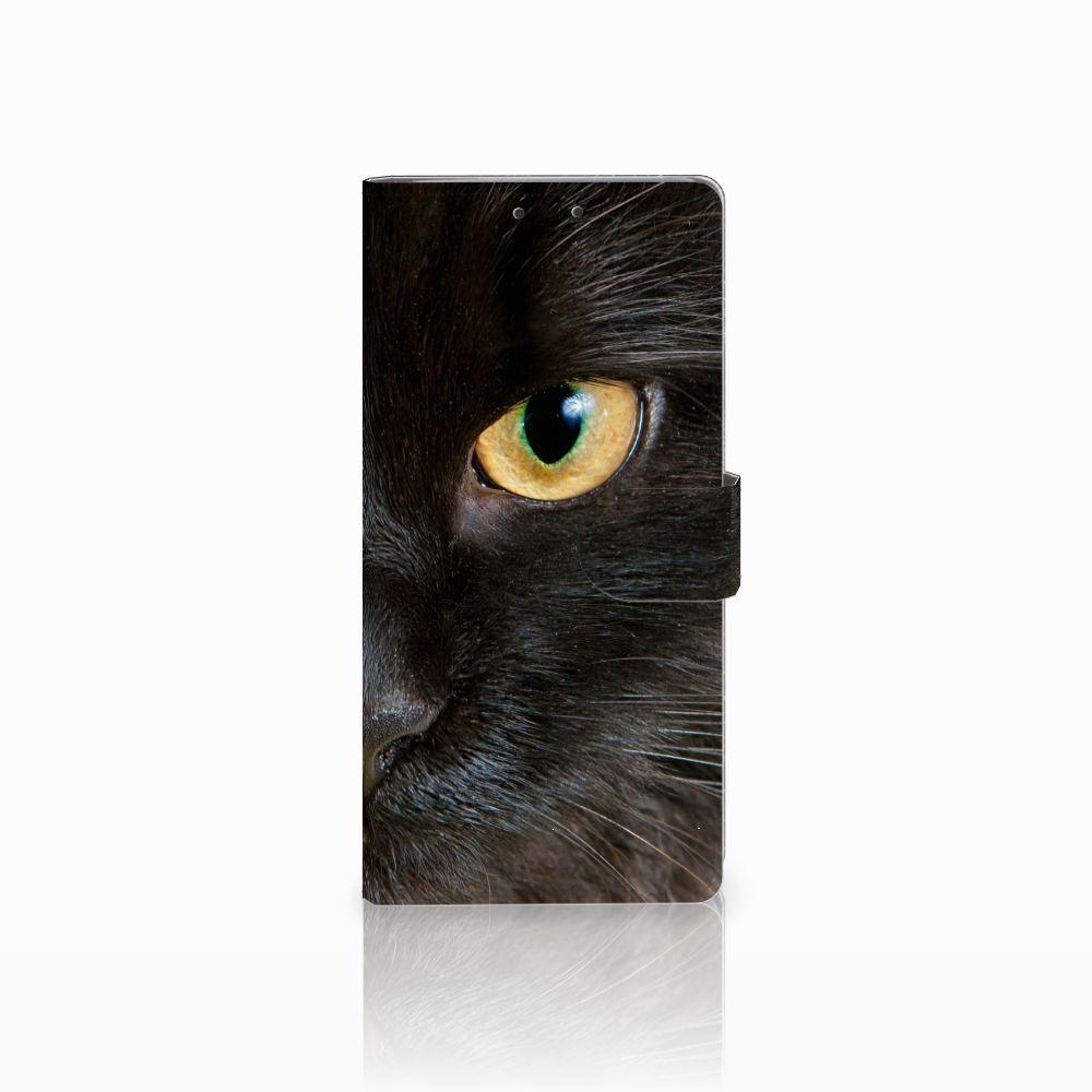 HTC U Ultra Uniek Boekhoesje Zwarte Kat