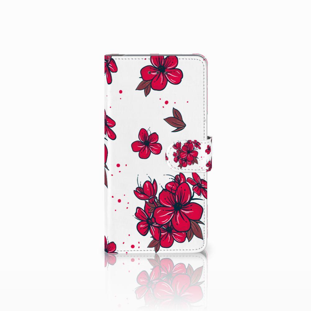 Samsung Galaxy J7 (2018) Boekhoesje Design Blossom Red