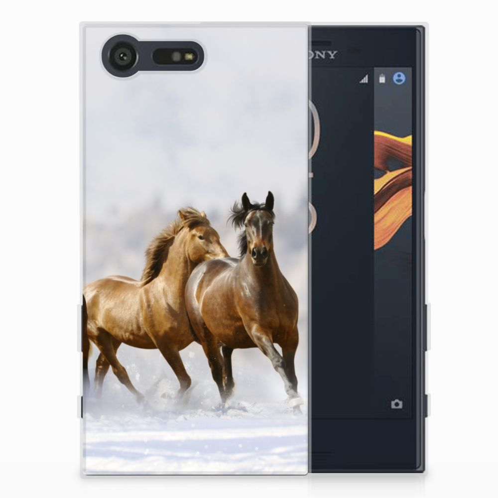 Sony Xperia X Compact Uniek TPU Hoesje Paarden