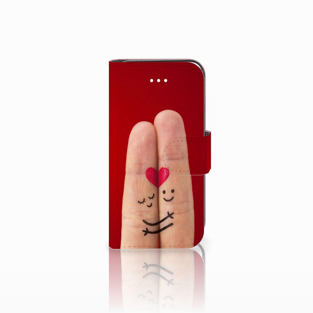 Apple iPhone 5   5s   SE Uniek Boekhoesje Liefde