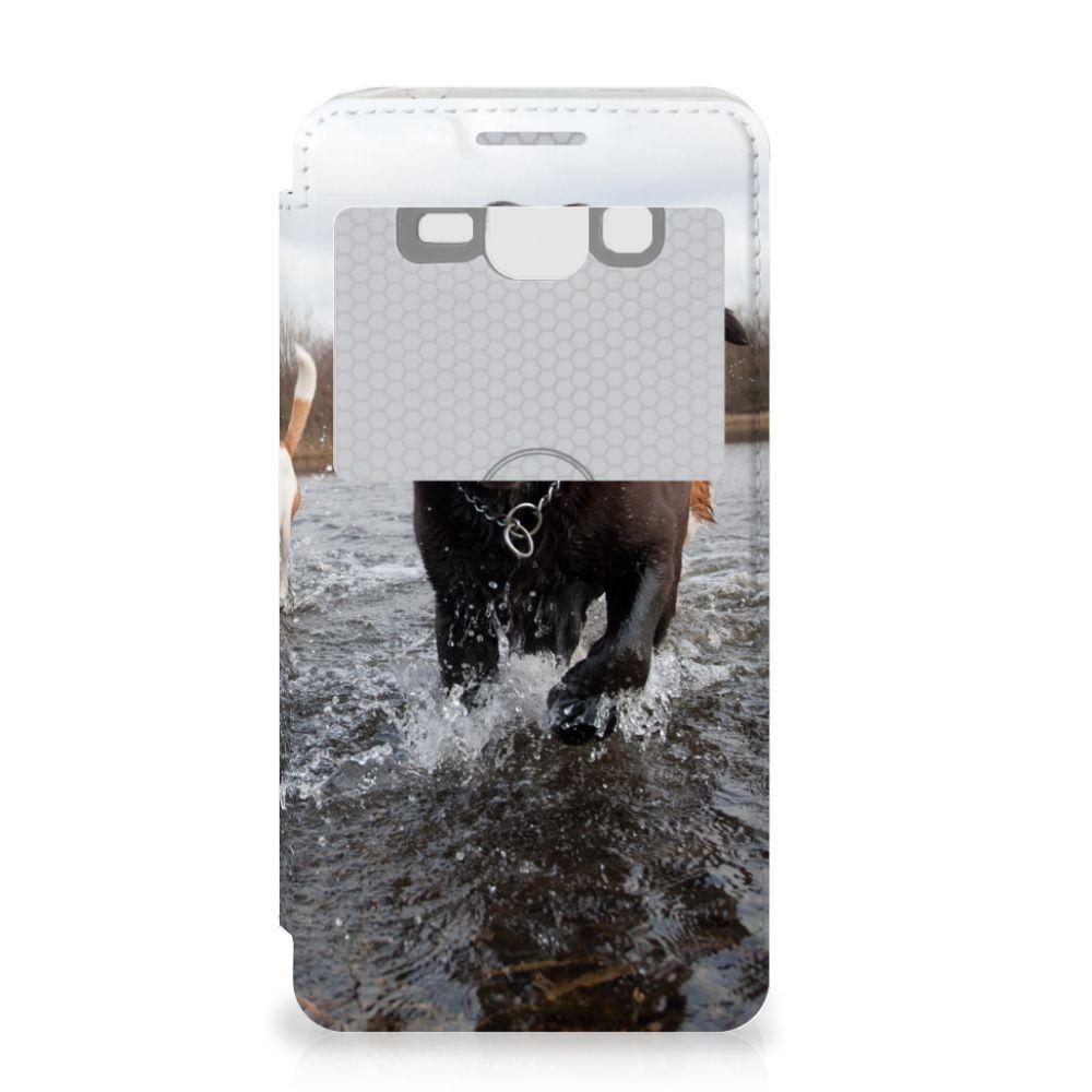 Samsung Galaxy Grand Prime Telefoonhoesje met Pasjes Honden Labrador