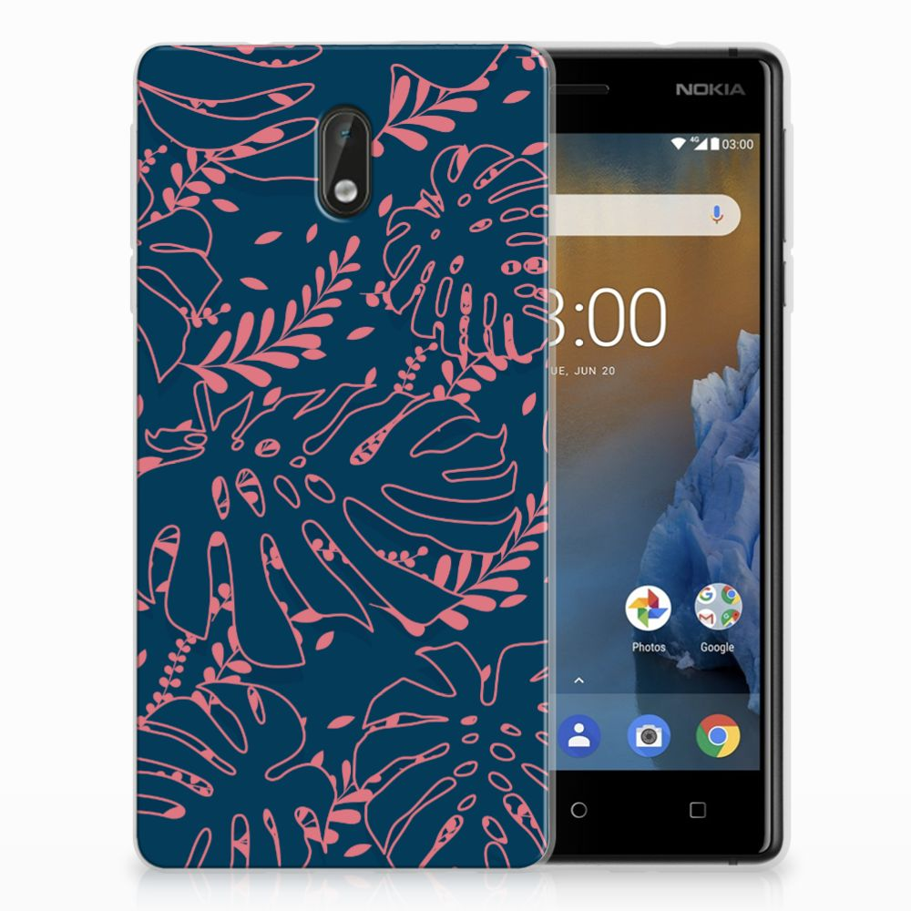 Nokia 3 TPU Hoesje Design Palm Leaves