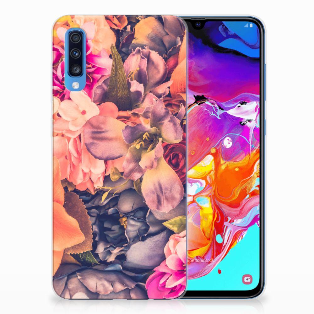 Samsung Galaxy A70 TPU Hoesje Design Bosje Bloemen