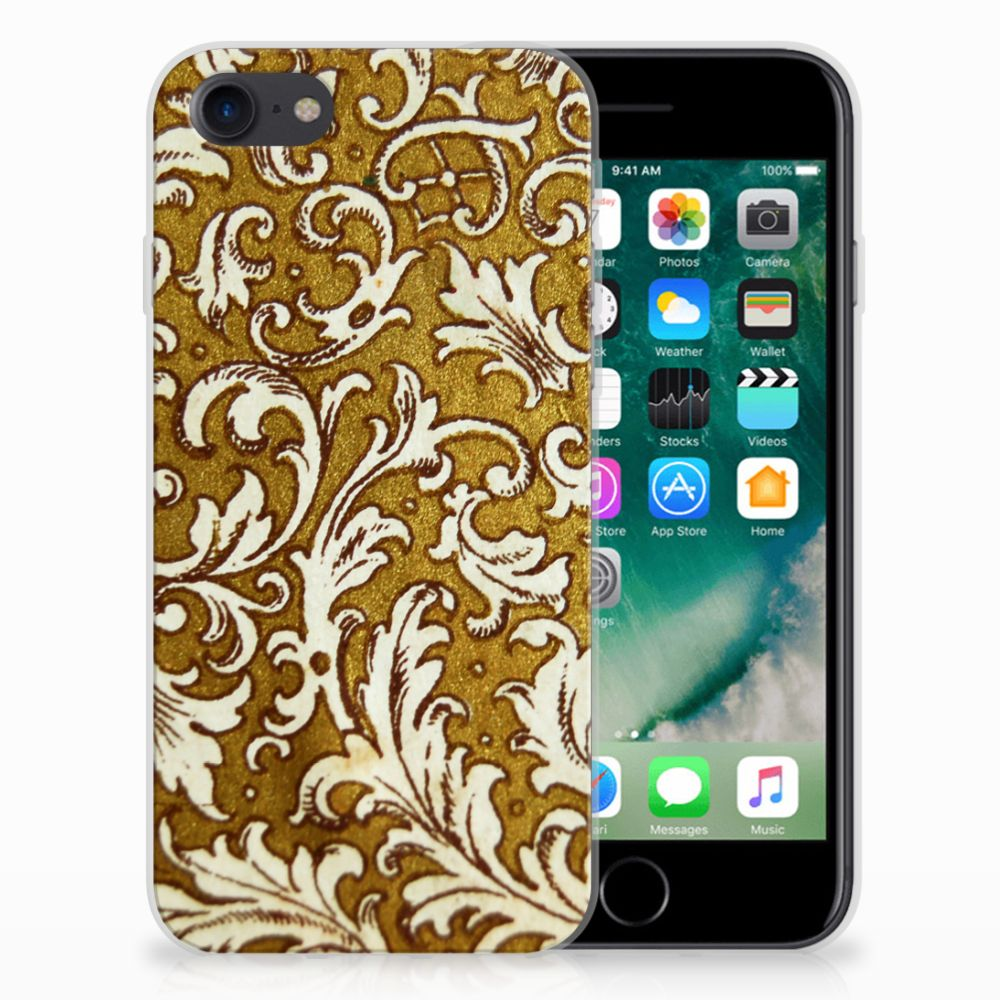 Siliconen Hoesje Apple iPhone 7 | 8 Barok Goud