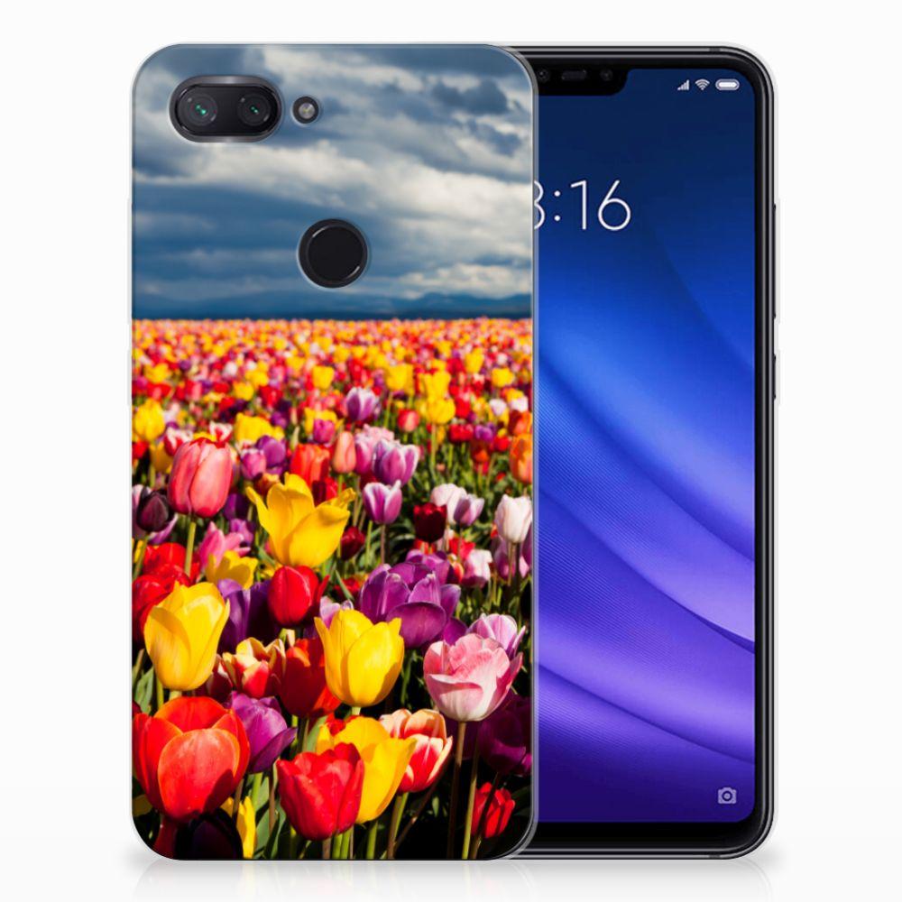 Xiaomi Mi 8 Lite Uniek TPU Hoesje Tulpen