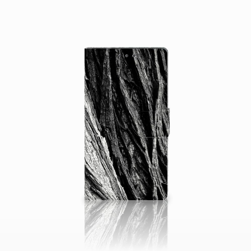 Samsung Galaxy Note 4 Uniek Boekhoesje Boomschors