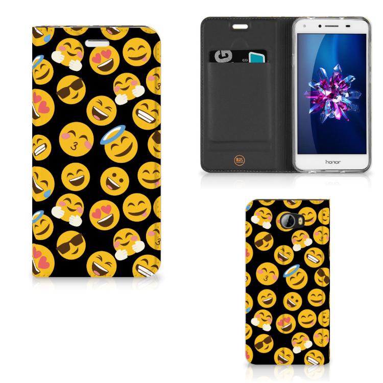 Huawei Y5 2 | Y6 Compact Hoesje met Magneet Emoji