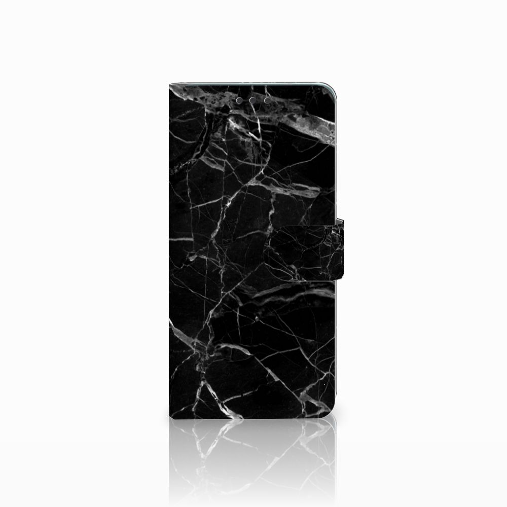 Huawei Mate 20 Uniek Boekhoesje Marmer Zwart