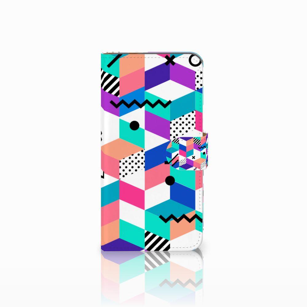 Huawei Nova Plus Boekhoesje Design Blocks Colorful