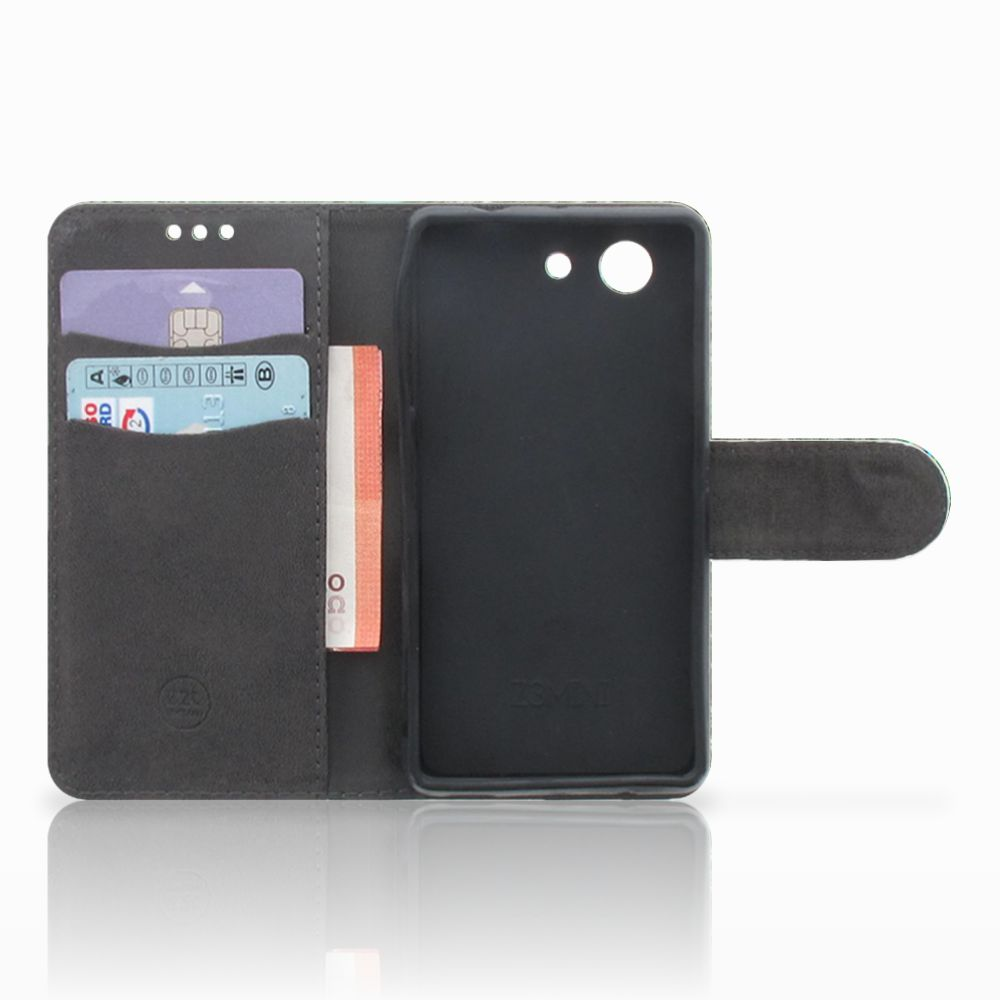 Sony Xperia Z3 Compact Telefoonhoesje met Pasjes Pauw