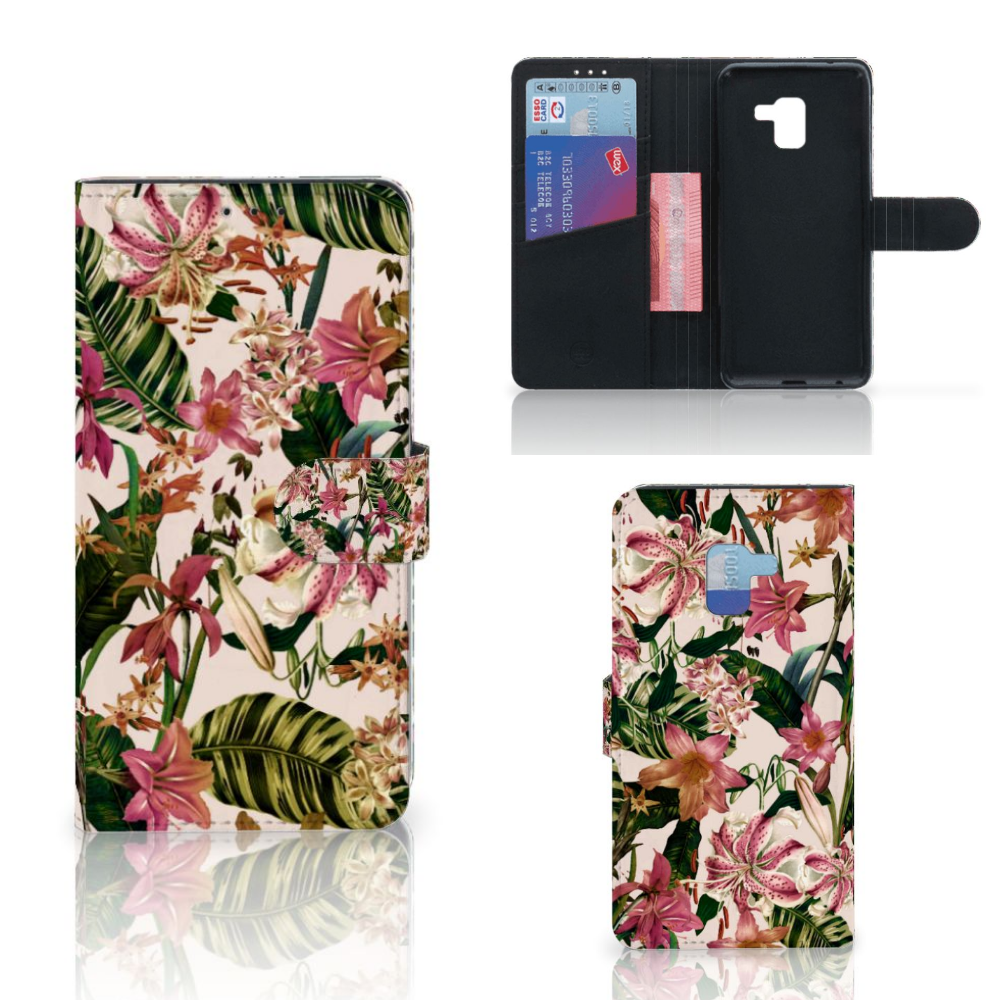 Samsung Galaxy A8 Plus (2018) Hoesje Flowers