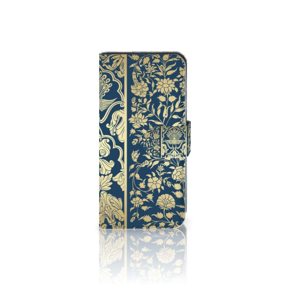 Samsung Galaxy S6 Edge Boekhoesje Golden Flowers