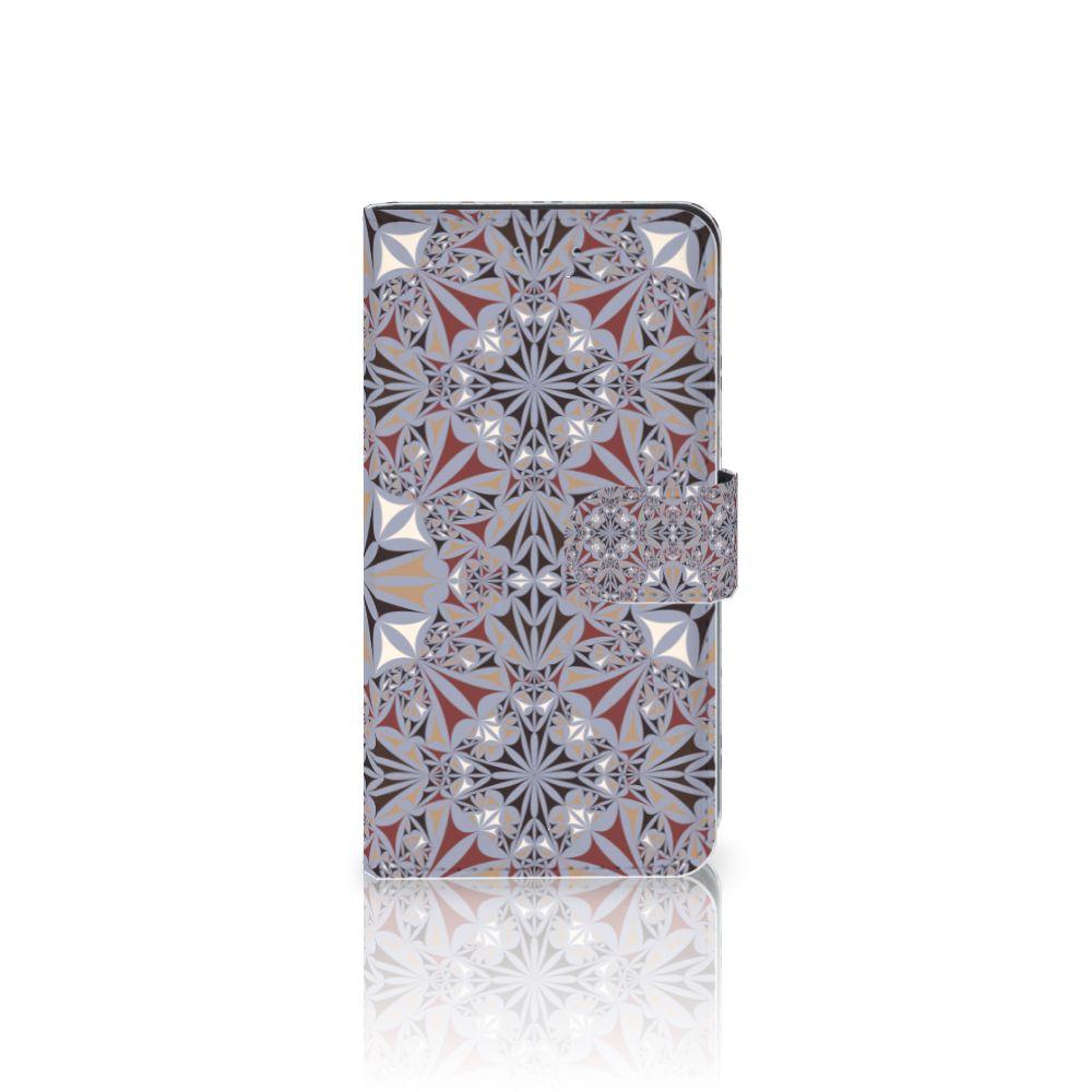 Samsung Galaxy J4 2018 Boekhoesje Design Flower Tiles