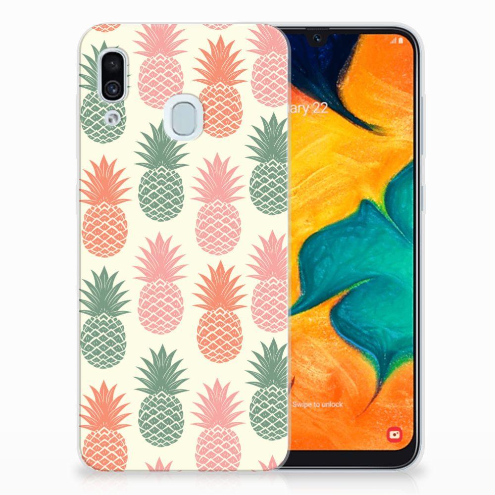 Samsung Galaxy A30 Siliconen Case Ananas