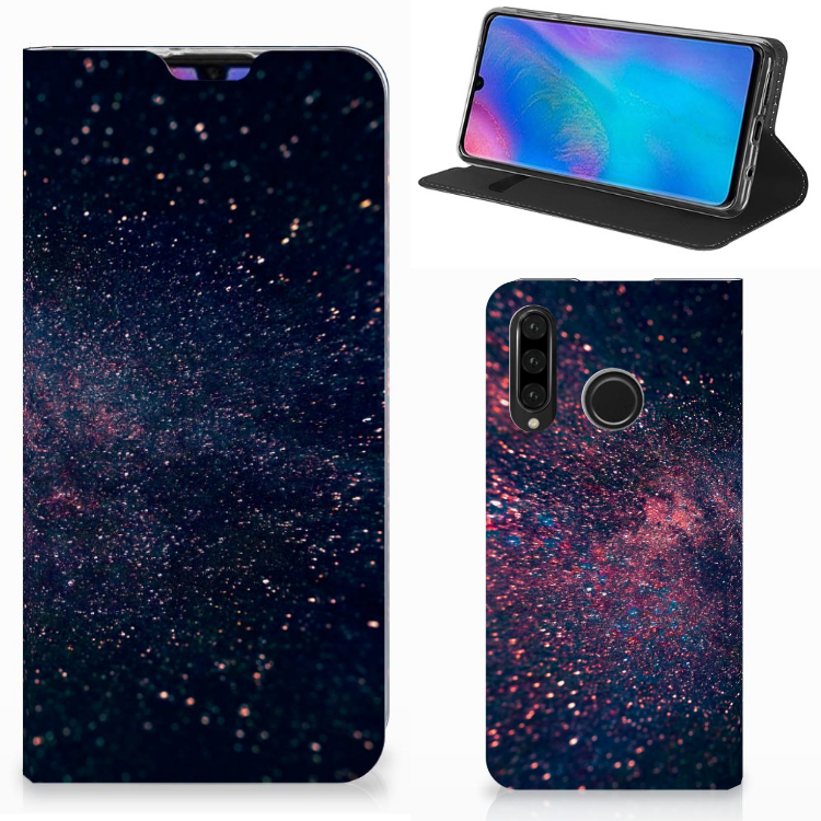 Huawei P30 Lite Stand Case Stars